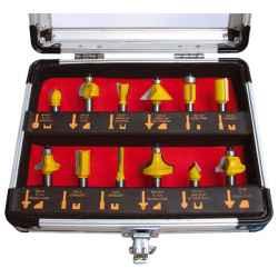 EXTOL CRAFT felsőmaró készlet 12 db-os, alu kofferben, 8mm-es befogással, keményfém lapkás