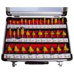 EXTOL CRAFT felsőmaró készlet 35 db-os, alu kofferben, 8mm-es befogással, keményfém lapkás