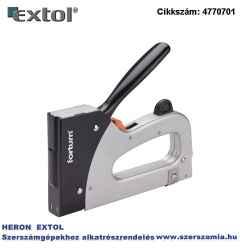 Tűzőgép, fémházas, profi, 2 funkciós, tűzőgépkapocs, 6-16 x 11,3 mm, szeg fejjel: 14-16 x 2 x 1,2 mm Fortum
