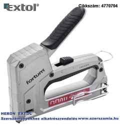 Tűzőgép, aluházas, profi, 6 funkciós kapocs: 6-14 x 10,6 mm és x 11,3 mm, U-kapocs 10-14 x 7,6 mm, szegek: max.15 x 2 x 1,2 mm Fortum