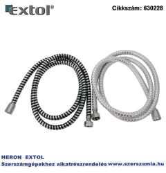 Zuhanytömlő, ezüst/fekete, PVC 1,5m