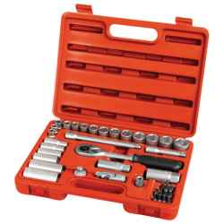 EXTOL PREMIUM 39 db-os dugókulcs készlet 3/8col, CV, racsnis, 45fog