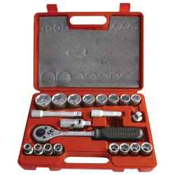 EXTOL PREMIUM 21 db-os dugókulcs készlet 1/2col, C.V.