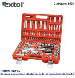 Dugókulcs készlet, CV., racsnis 45fog, ¼, 1/2 col, 4-32 mm, bit lapos, kereszt, imbusz, TORX, 16 és 21 mm gyertyak.