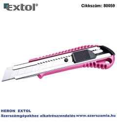 Univerzális vágó kés, fémházas, Extol Lady 18mm, fémházas, gumis betét