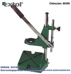 Fúrógépállvány fém, 38 és 43 mm befogás, teljes magasság: 420 mm, max. fúrási mélység: 60 mm
