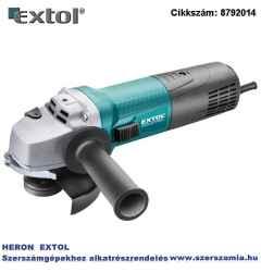 Sarokcsiszológép 125 mm 1400W, szabályozható fordulatszám, lágy indítás, terhelésnél konstans fordulatszám