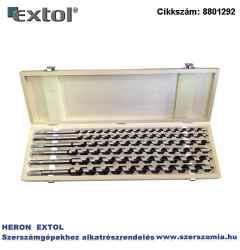 Fafúró készlet 6 db-os 10-12-14-16-18-20 x 460 mm, csavaros heggyel, hatszög befogás fa dobozban