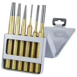 EXTOL PREMIUM lyukasztó és kiütő készlet 6 db-os CV. HRC 52-58 keménység, 3-8mm, 150mm