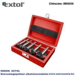 Pánthelymaró készlet, átm.:15-20-25-30-35 mm, lapkás, befogás: 8 ill. 10 mm, hosszúság: 85 mm, fa dobozban