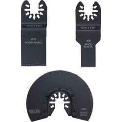 Tartalék fej készlet, 3 db-os 417200, 417220 géphez fával és műanyaggal való munkákhoz EXTOL PREMIUM