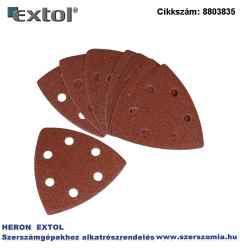 Delta csiszolóvászon készlet, fára 93 x 93 mm, 5 x P40, 5 x P60, 5 x P80, 5 x P120, 417200 és 417220 géphez