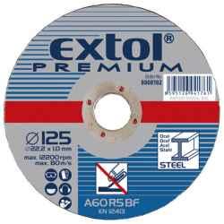 EXTOL PREMIUM vágókorongok fémhez 115x1,6x22,2mm, max 13300 ford/perc 5db/csomag