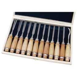 12 db-os fafaragó készlet, fanyelű, fa dobozban EXTOL PREMIUM