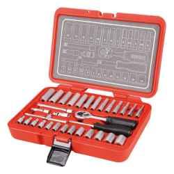 EXTOL PREMIUM dugókulcs készlet 32 db-os 1/4col, CV, 45fog