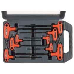 EXTOL PREMIUM 9 db-os T10-T45 TORX kulcs készlet gumírozott t-nyelű