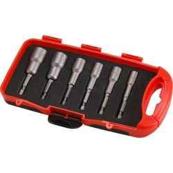6 db-os behajtó készlet hatlapfejű csavarhoz, hatszög befogás, Cr.V., mágneses EXTOL PREMIUM