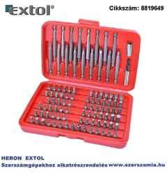 Behajtó készlet 98 db-os CR.V., lapos:3-7 mm, PH0-3, pz0-3, HEX 1,5-6 mm, T és TTA 8-40, hosszú bitekkel is