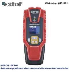 Digitális detektor, rejtett vas, réz, alu és fa tárgyak, illetve feszültség alatti vezeték keresésére, LCD kijelző