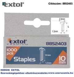 10mm 2,0x1,2mm szeg fejjel profi tűzőgéphez 1000db/csomag EXTOL PREMIUM