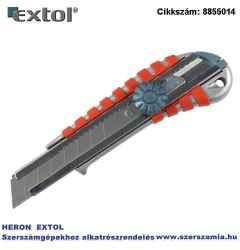Tapétavágó kés, csavaros rögz. Alu fémházas, gumírozott 18 mm