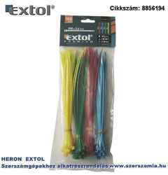 Kábelkötegelő 2,5 x 150 mm, 4 színű piros, kék, sárga, zöld, Nylon 100db/csomag