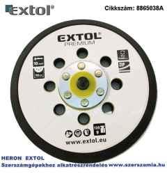 Tartalék gumi talp 8865038 rotációs csiszológéphez, 6 col/150 mm, 8 lyuk, tépőzáras, max. 12.000/perc, vastagság: 10 mm
