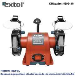 Kettős köszörűgép 350W, száraz, 150 x 12,7 x 20 mm, P36, P80, 2950 ford/perc, 9kg, lámpával