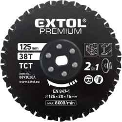 125 x 20 x 16mm, T38, körfűrészlap keményfémlapkás 8893020 vágógéphez EXTOL PREMIUM