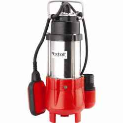 EXTOL PREMIUM szennyvíz szivattyú 250W, SP250F, úszókapcsolóval, szállító teljesítmény: 9m3/h