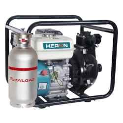 HERON Benzin-gázmotoros nyomószivattyú, 6,5 LE, 1,5col bemenet, 1 x 1,5col és 2 x 1col kimenet EPPH 15-10G