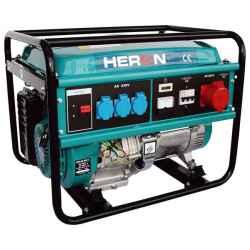 HERON Benzinmotoros áramfejlesztő, max 6000 va, háromfázisú egm-60 avr-3