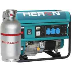 HERON Benzin-gázmotoros áramfejlesztő, max 5500/4800 VA, egyfázisú EGM-55/48 AVR-1G