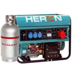 HERON Benzin-gázmotoros áramfejlesztő, max 6800/5500 VA, háromfázisú, önindítós EGM-68 AVR-3EG