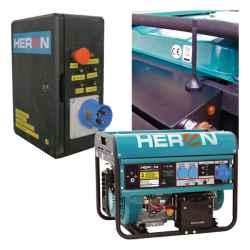 Benzinmotoros áramfejlesztő, HAE-1 indító aut., GSM, max 6500 VA, egyfázisú, elektromos önindítóval EGM-65 AVR-1E, HERON