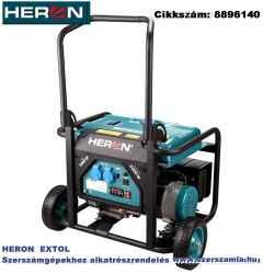 Benzinmotoros áramfejlesztő, 1 fázisú, max. teljesítmény 3 KW