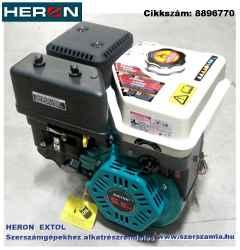 Benzinmotor főtengely 398 cm3, 4-ütemű, léghűtéses, OHV, 13 le/4000 ford/perc, reteszes tengelyvég, S-típus