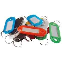 Kulcscimke, színes műanyag, címke hellyel 12db/csomag EXTOL