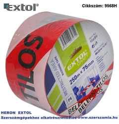 Jelölő szalag, piros-fehér 75 mm x 250m, polietilén Belépni tilos felirattal, kordonszalag