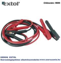 10mm2 keresztmetszetű indítókábel pár, csipesszel 400A , kábelhossz: 3,5m, átmérő: 9 mm EXTOL CRAFT