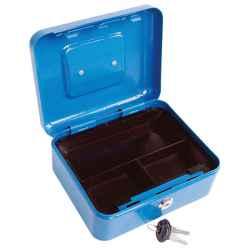 200 x 160 x 90 / 0,8mm pénzkazetta, 2db kulccsal, változó színekben, festett acél EXTOL CRAFT