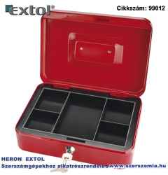 250 x 180 x 90/0,8 mm pénzkazetta, 2db kulccsal, változó színekben, festett acél EXTOL CRAFT