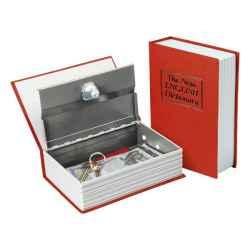 180 x 115 x 54mm pénzkazetta, könyv típusú, 2db kulccsal, festett acél, műanyag/papír borítás EXTOL CRAFT