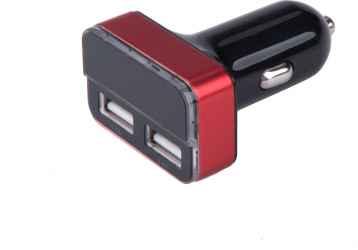 Autós töltő, szivargyujtó / dupla USB, 1,0A plusz 3,4A/ 37W, kábel nélkül