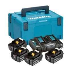MAKITA 18V LXT Li-Ion 4x5,0Ah akku plusz DC18RD duplatöltő készlet plusz MAKPAC