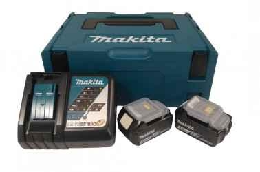 MAKITA 18V LXT Li-Ion 2x3,0Ah akku plusz DC18RC töltő készlet plusz MAKPAC