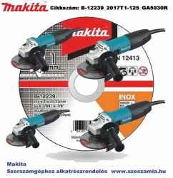 Vágókorong INOX 125x1mm 500db B-12239 plusz 4db GA5030R