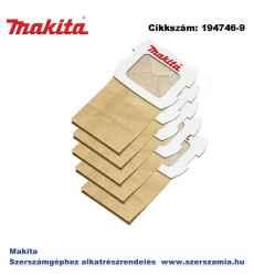 Papírporzsák T2 BO6710 BO4555K BO4557 gépekhez MAKITA 5db/csomag