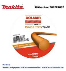 Kerek damil OP2 round TRIM PLUS 2,4 mm x 15m MAKITA