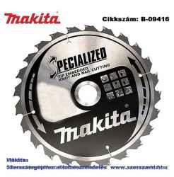 Körfűrészlap szög, csomósfa 185/30 mm Z2 T2 MAKITA